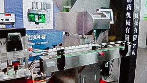 Automatic line for counting and packing tablets, dragee, pills, capsules, candy