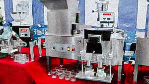 Equipment for counting and packaging of tablets, dragee, pills, capsules, candies