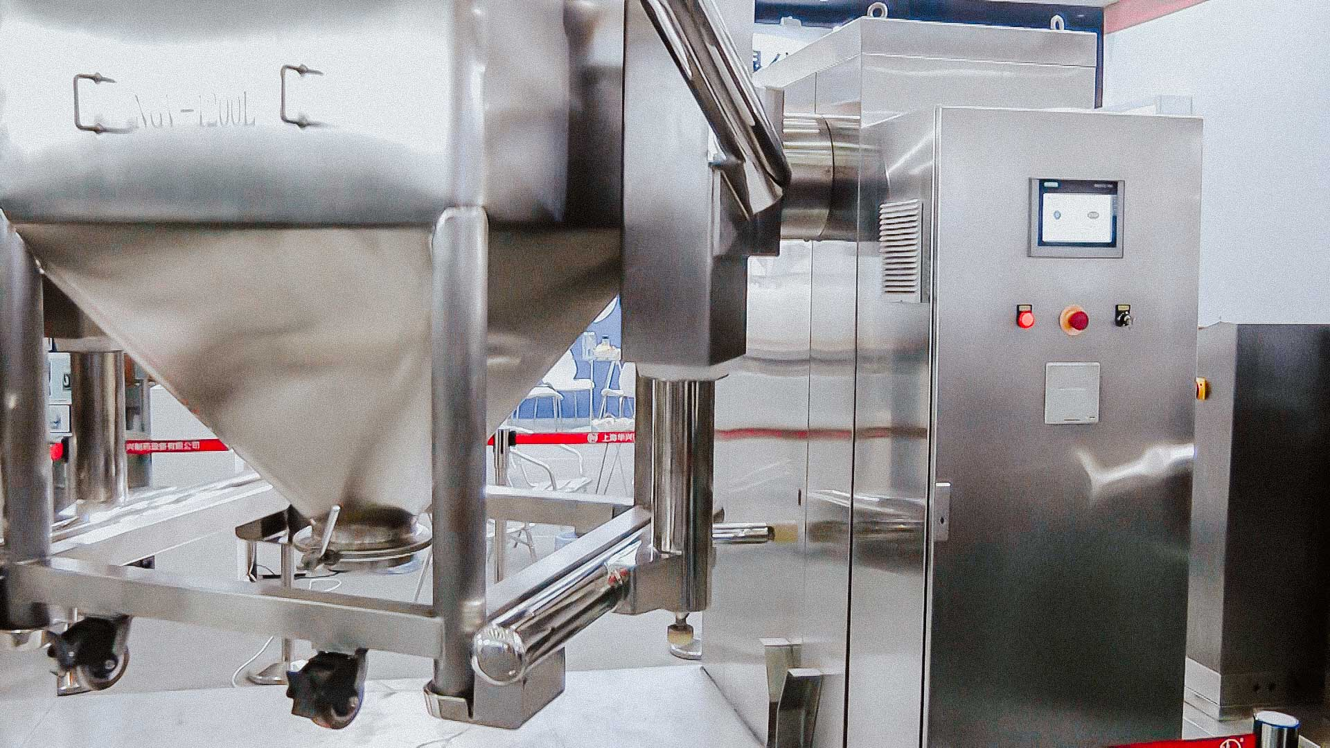 3D Stainless Steel Cube Rotating Mixer for Pharmaceutical Drug Manufacturing