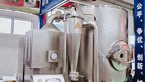 Automated equipment for drying and granulation in a fluidized bed for the production of granules