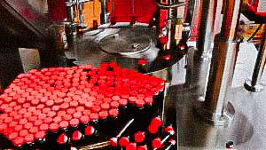 Automatic bottling and capping machine penicillin bottles with aluminum caps
