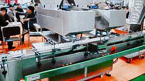 Automatic filling machine for filling hard gelatin capsules into plastic bottles