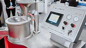 Automatic granulation and production machine for round spherical pellets
