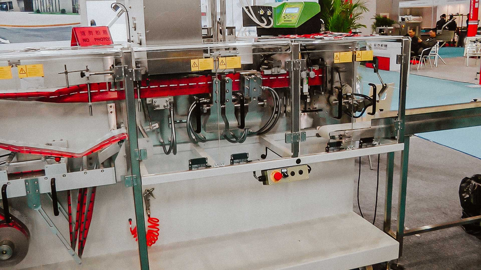 Automatic line for the production of wet wipes with alcohol individual package