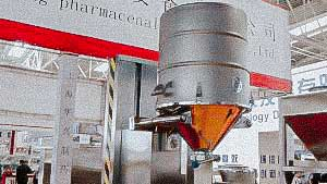 Automatic pick-up device for powder containers in the pharmaceutical production of medicines CANADA