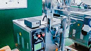 Automatic powder filling machine in plastic bags sticks