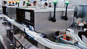 Automatic system visual control quality of penicillin liquid bottles