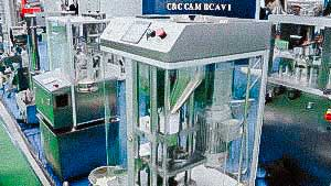 Automatic tablet press one punch for pressing tablets in the laboratory