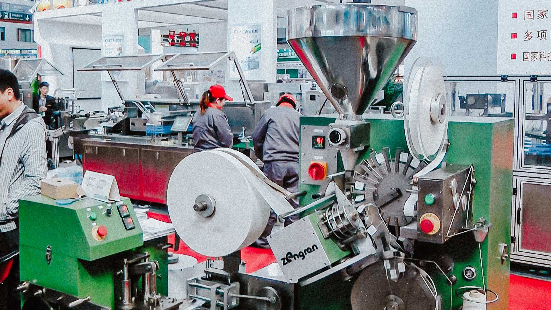 Automatic tea packaging machine to bag with thread and label and individual bag