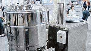 Factory equipment for storage and handling of pharmaceutical powder