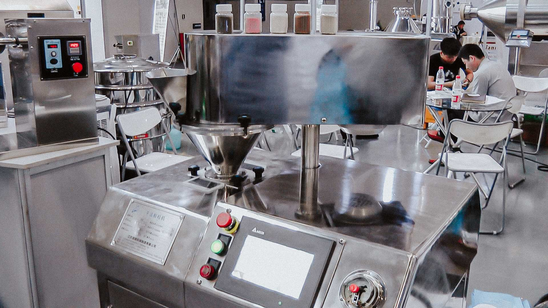 Granulator for pellet production pharmaceutical production of jelly and tablets