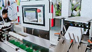 High speed automatic cardboard blister packaging machine
