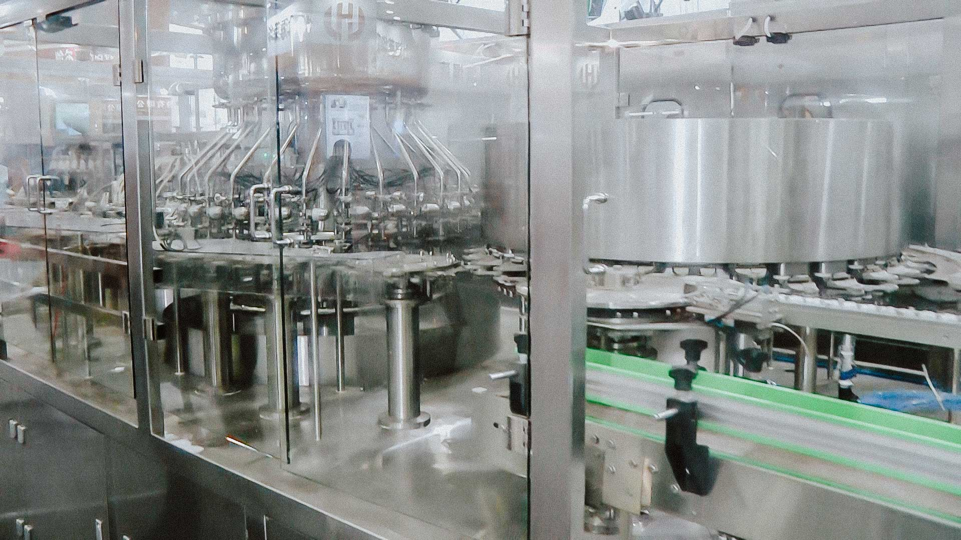 High speed bottling and capping system glass vials and aluminum caps