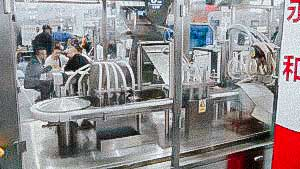 High speed bottling and capping system plastic vials and plastic caps