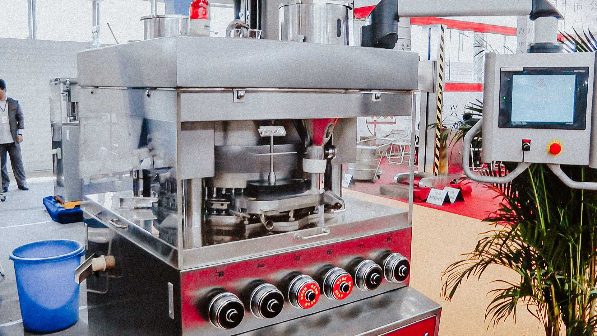 High speed rotary tablet press for pharmaceutical tablet pressing