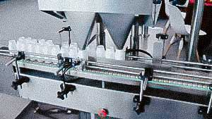 Line automatic filling and counting machine for tablet in plastic bottles