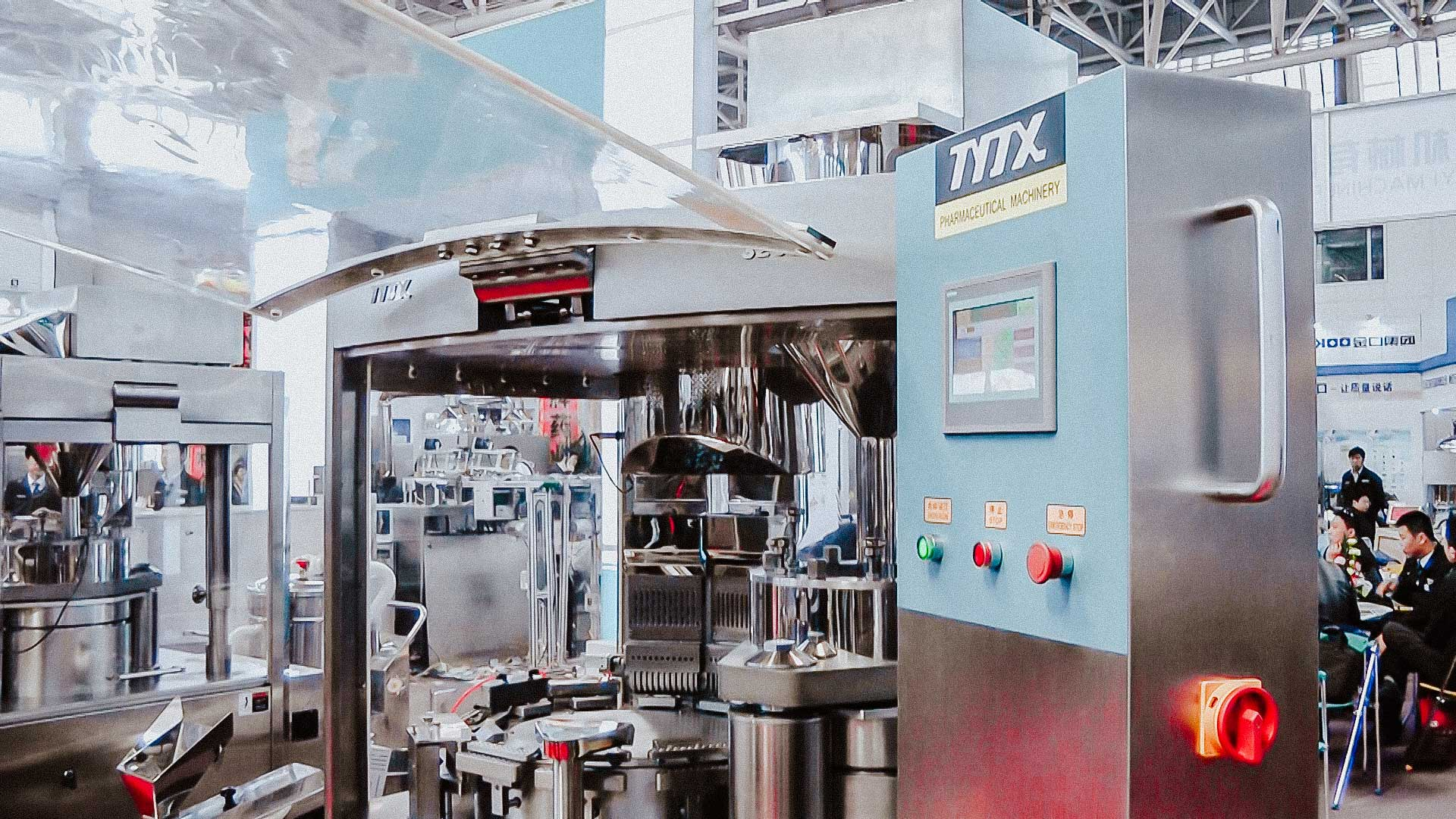 Pharmaceutical equipment for filling hard gelatin capsules with powder