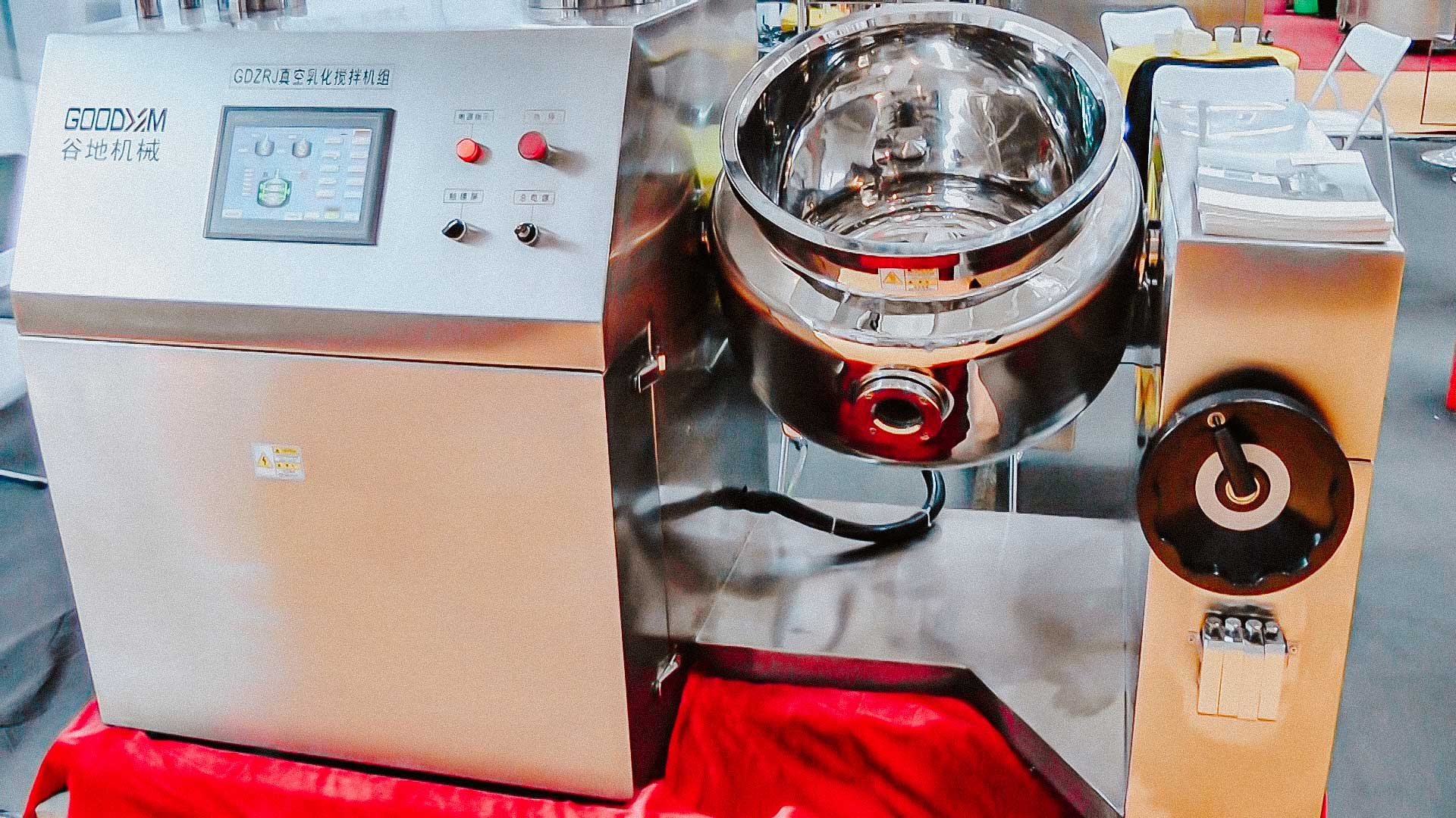 Pharmaceutical tank with heating and agitator for preparation of solutions and gels pharmaceutical factory US