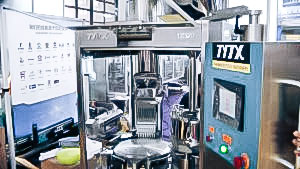Automatic capsule machine for hard gelatin capsules in pharmaceutical production