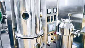 Automatic equipment for drying and granulation of powder in fluidized bed pharmaceutical production Estonia