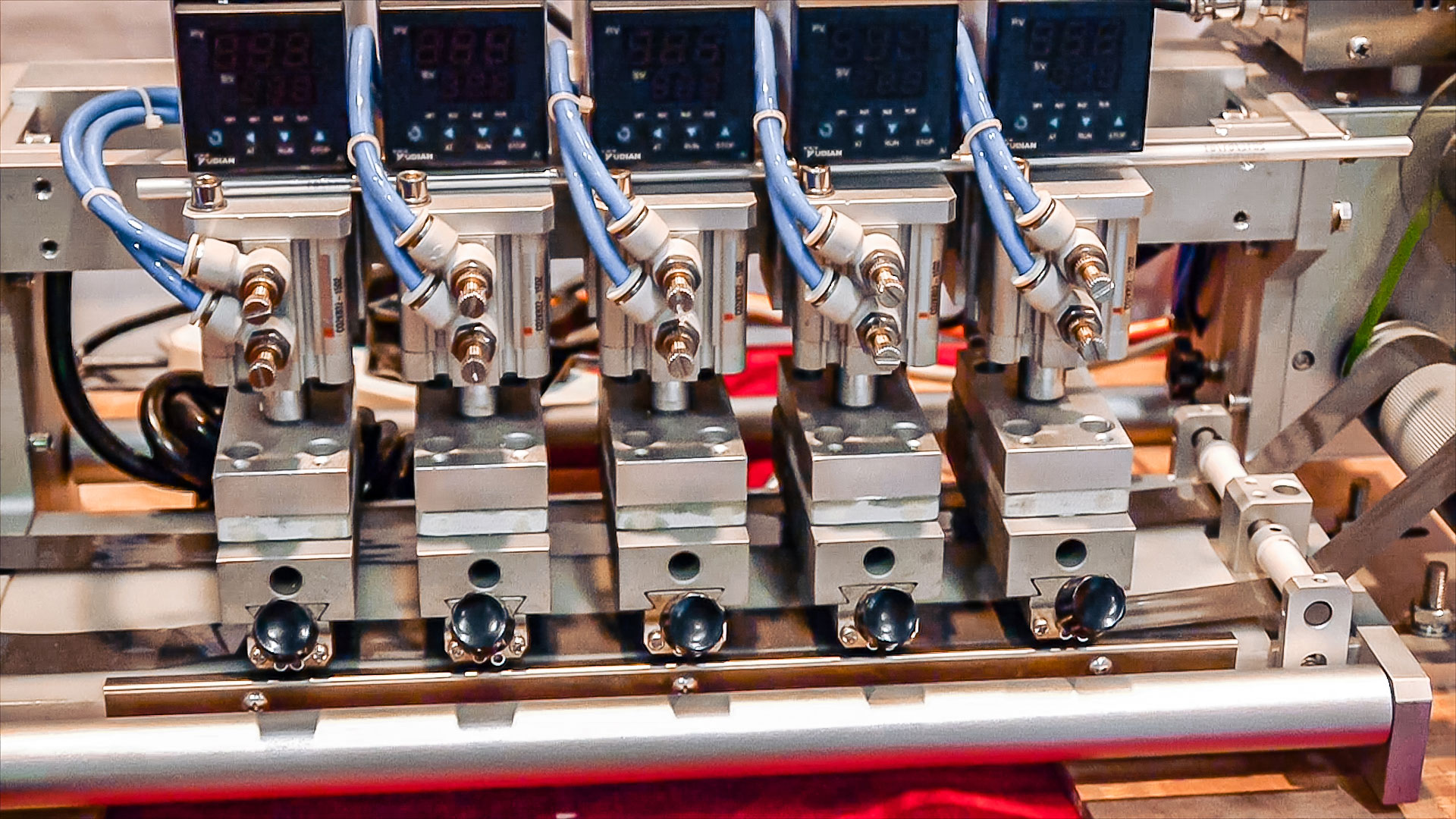 Automatic equipment for printing the shelf life on roll materials Germany