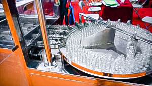 Automatic equipment for washing and sterilization of penicillin bottles