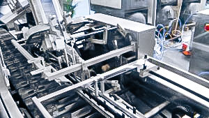 Automatic PVC blister packaging equipment in cardboard boxes in pharmaceutical production