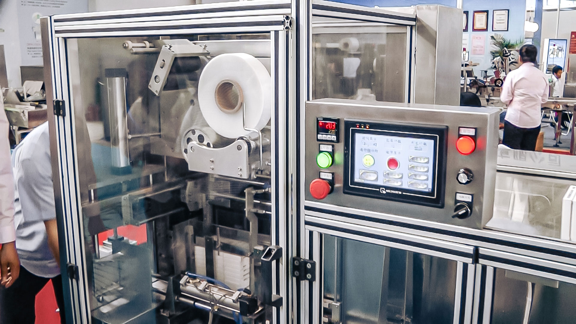 Automatic equipment cellophane box packaging in pharmaceutical production