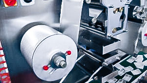 Automatic equipment for group packaging of tablets in aluminum tape pharmaceutical production