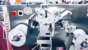 Automatic equipment for group packaging of tablets in aluminum tape pharmaceutical production Canada