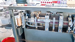 Automatic equipment for production of plastic ampoules with liquid inside pharmaceutical production