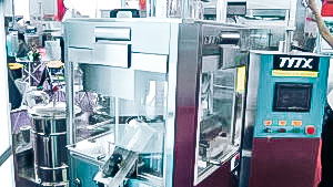 Automatic equipment for tablet production and dedusting in pharmaceutical production European
